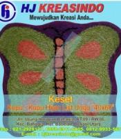 HJKREASINDO-KESET-KUPU-KUPU-HIJAU-LIST-UNGU-40X60-300x300